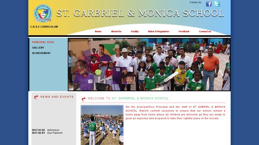 stgabrielmonicaschoolranchi.com