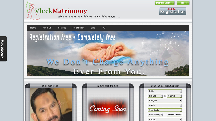 Vleek Matrimony is a complete free wedding services website