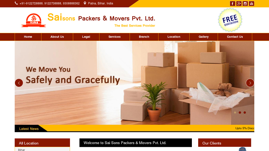 Sai Sons Packers & Movers Pvt. Ltd.